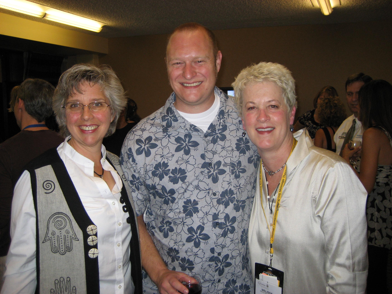 Author Ruth Werner, NHI Grad John Lambert, & Melissa