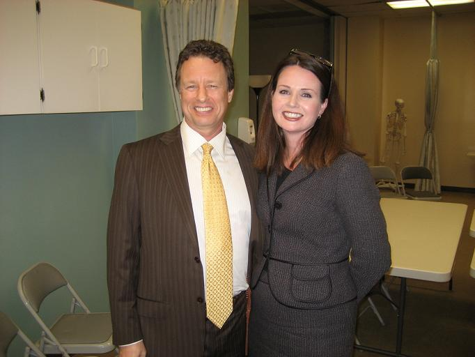 CAMTC Board Member Dr. Paul Schwinghammer with Executive Director Cheryl Oliver