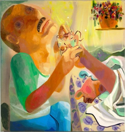 Dana Schutz, Blind Foot Massage (2009). Oil and acrylic on canvas